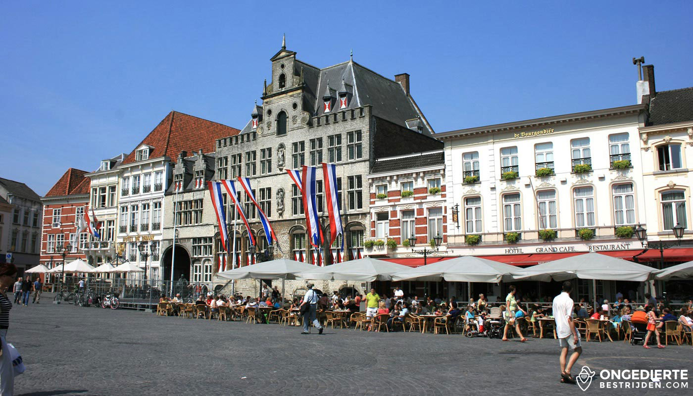Centrum en plein in Bergen op Zoom