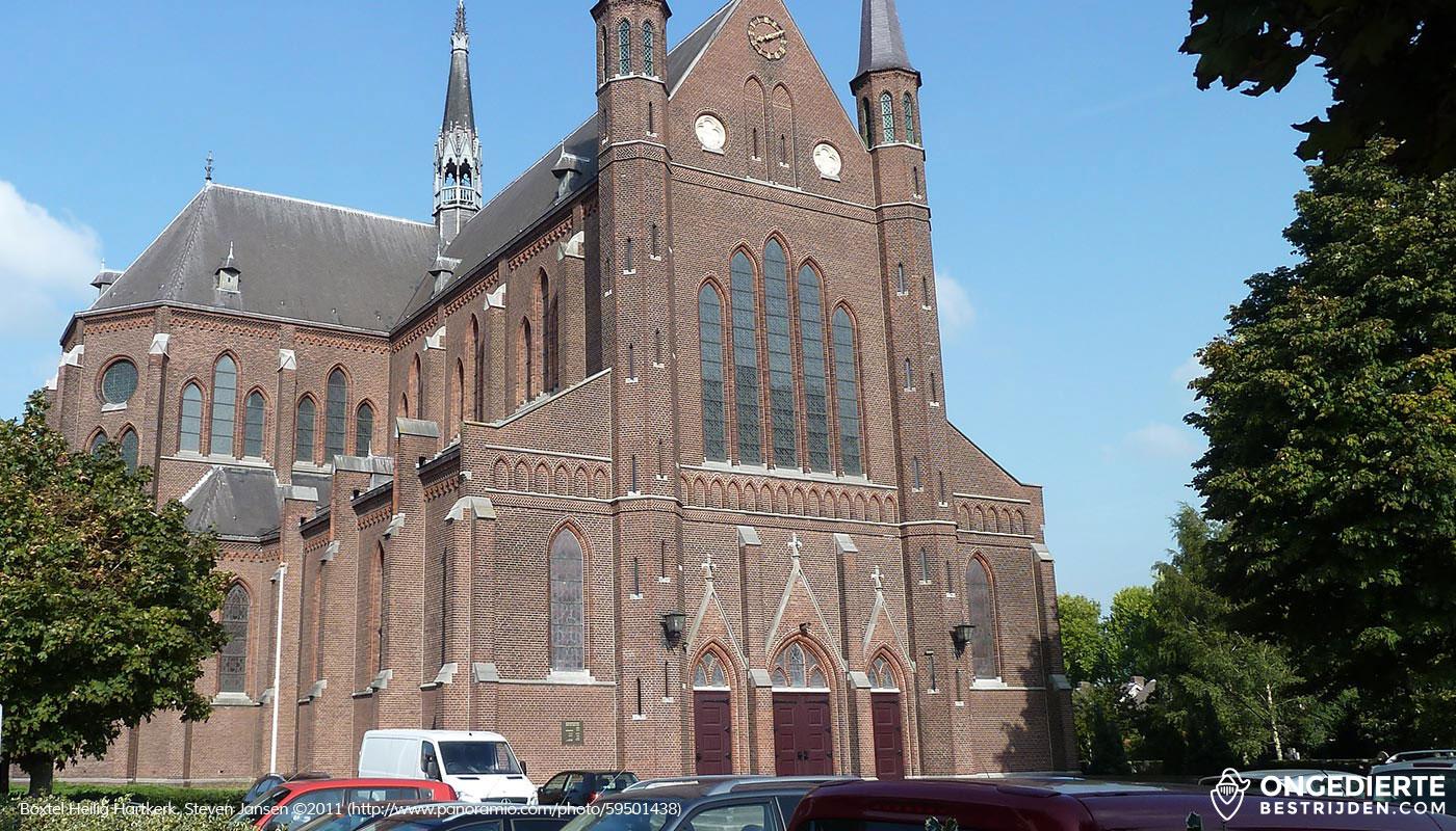 Heilig Hartkerk in Boxtel vanaf woonhuis