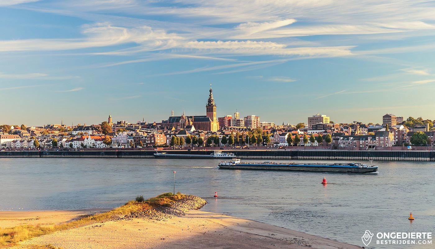 Uitzicht op binnenstad van Nijmegen