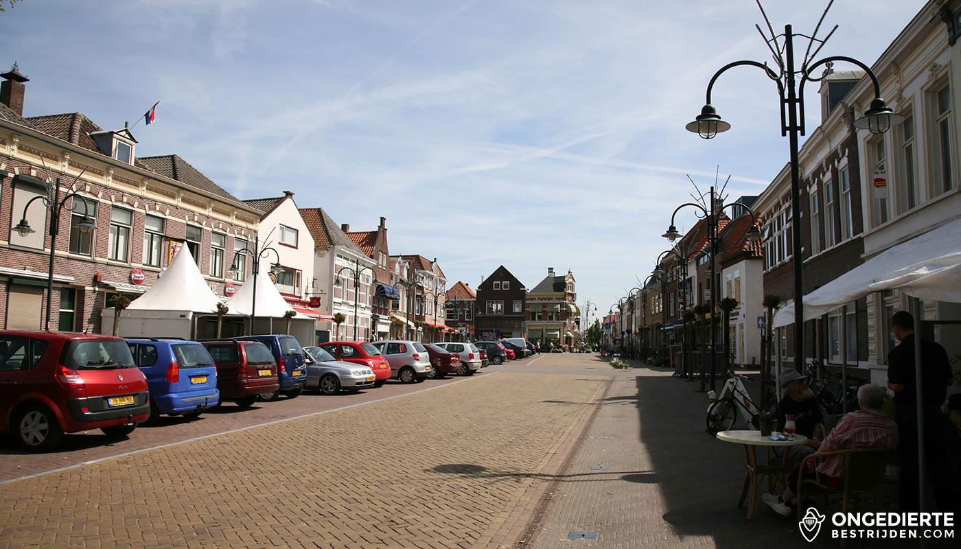 Binnenstad en huizen in Steenbergen